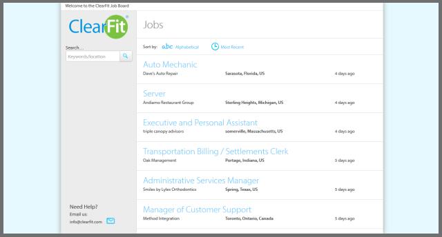 ClearFit Job Board