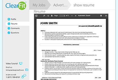 Resume in App