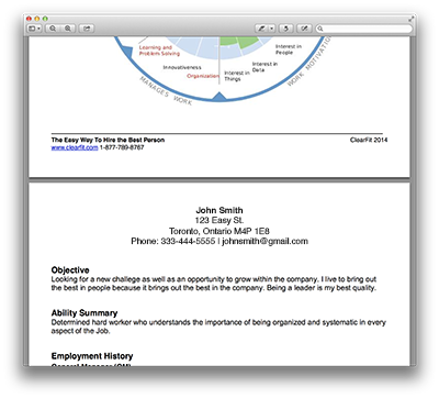 Resume in PDF Profile